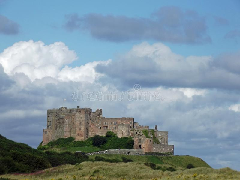 Bamburgh Castle from the south royalty free stock photos