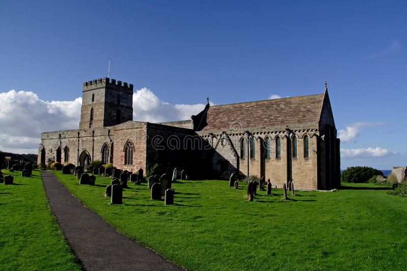 Bamburgh Church. Northumberland where Grace Darling is buried stock images
