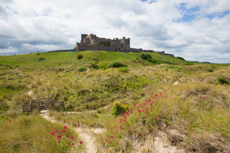 Bamburgh kasztel Northumberland północno-wschodni Anglia UK obrazy royalty free