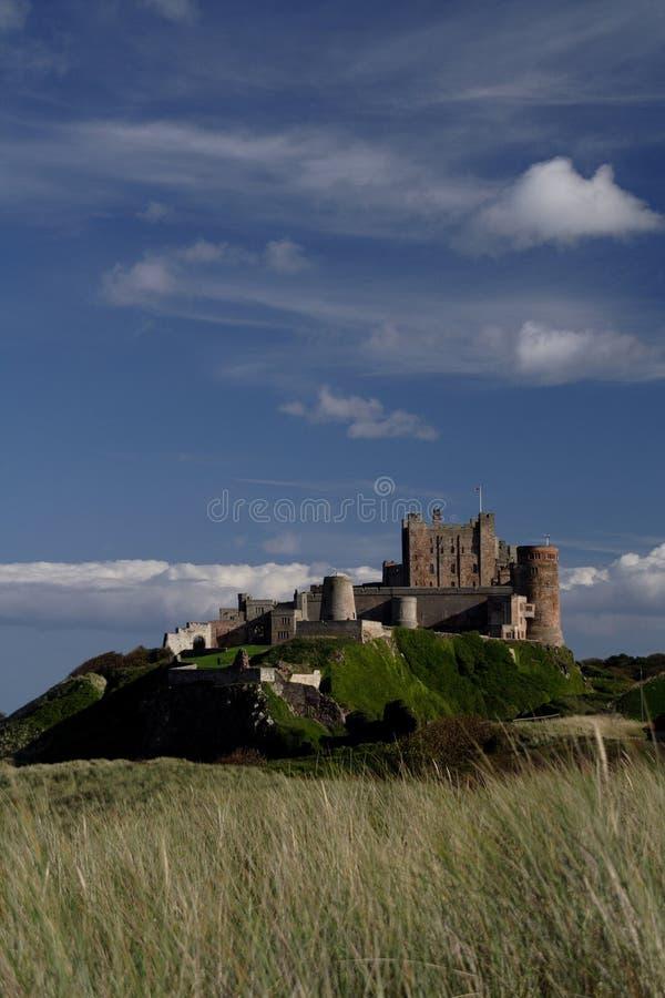 bamburgh zamku zdjęcie royalty free