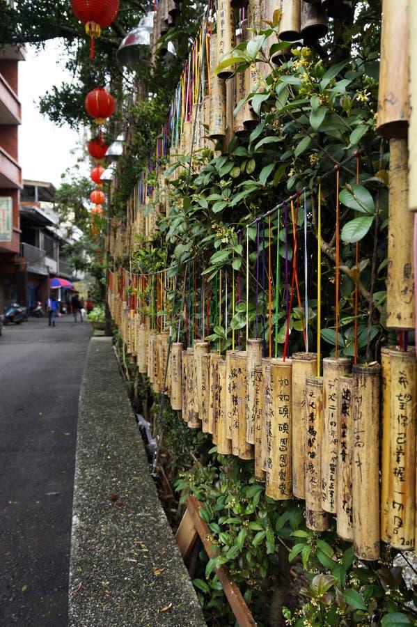 Bambus życzy słupy obrazy stock