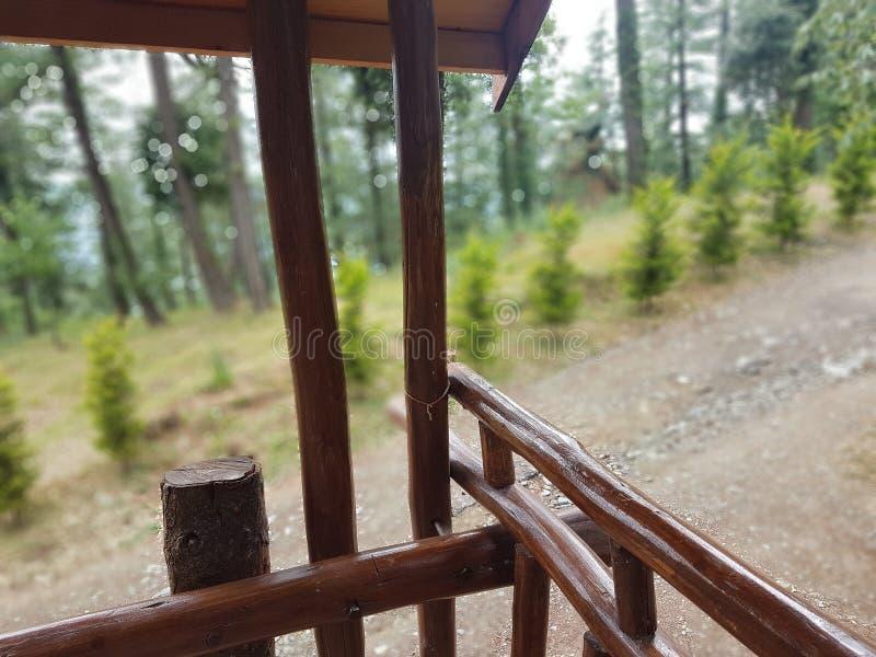 Bambus benutzt im Baumhaus lizenzfreie stockfotos