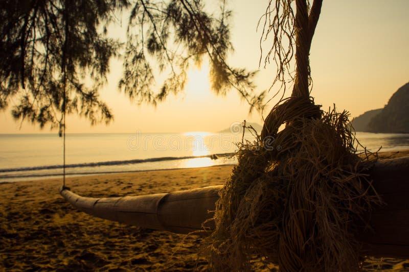 Bambus huśtawka. zdjęcia stock