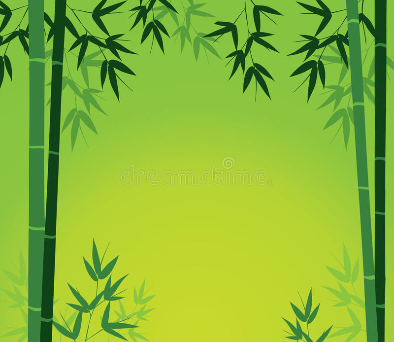 bambus karta ilustracji