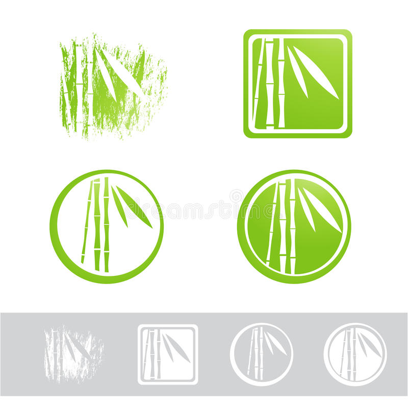 Bambus-Logo Design Set stock abbildung