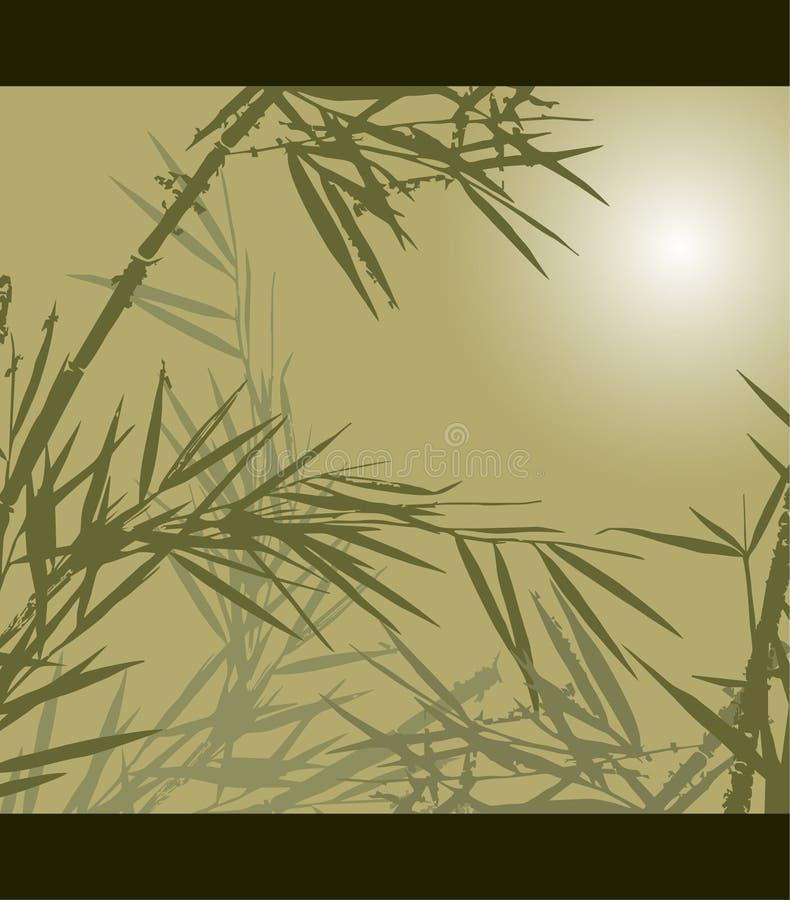 Bambus, Vektorillustration stock abbildung