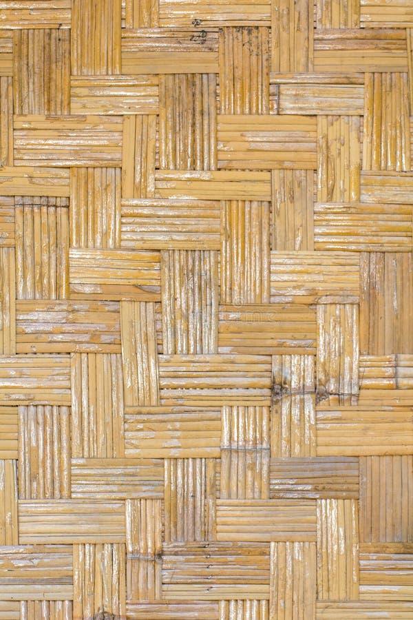 Bambus wyplata teksturę fotografia stock