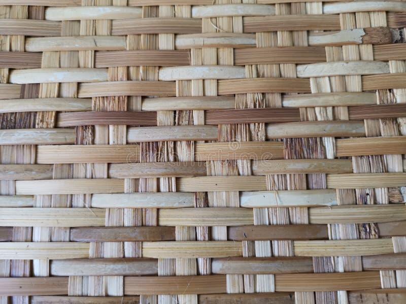 Bambus wyplata w wzorze Dla naturalnych tac, froterowanie, tkactwo, rękodzieła ludowymi rzemieślnikami obraz stock