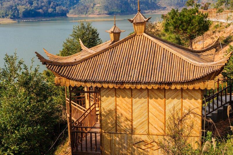 Bambusa dom zdjęcia stock
