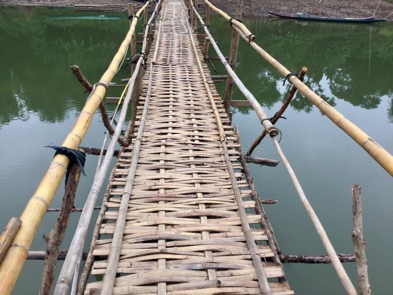 Bambusa most, Luang Prabang, obraz stock