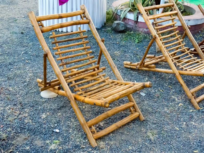 Bambusa odpoczynku krzesło obraz stock