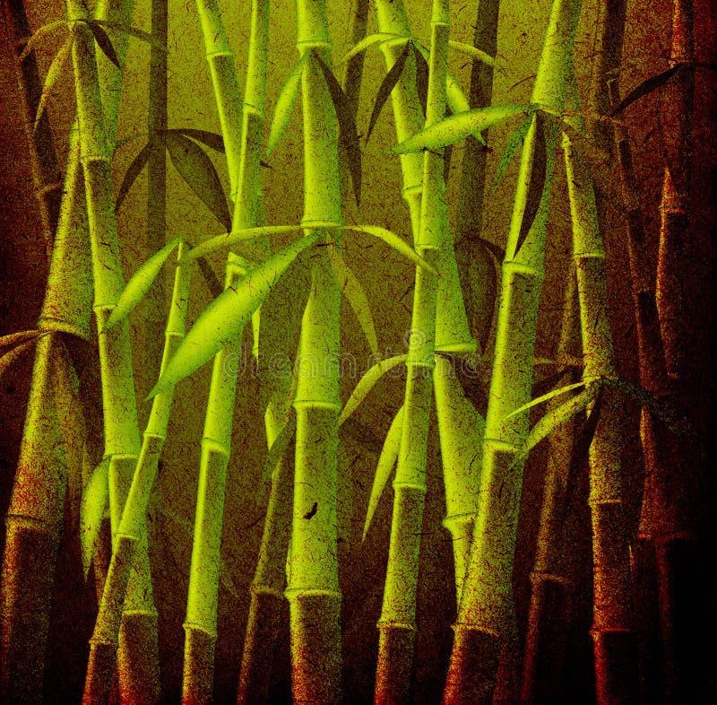 Bambusbäume stock abbildung
