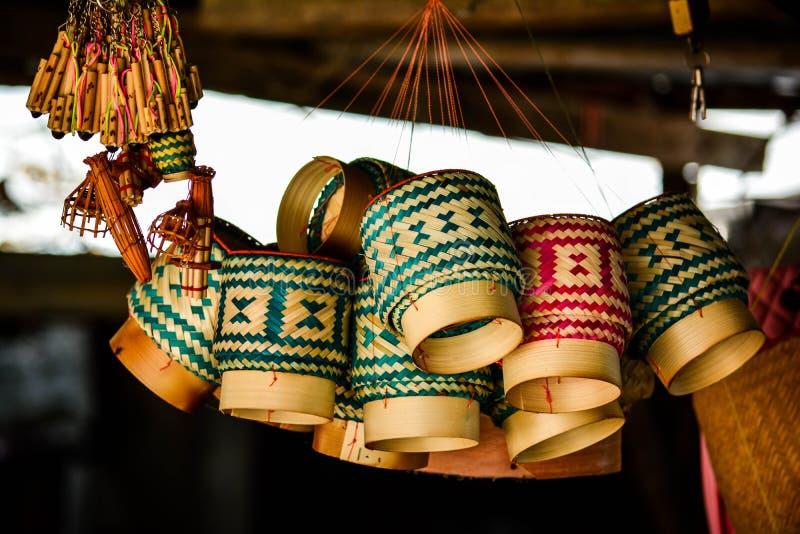 Bambusbehälter stockfotos