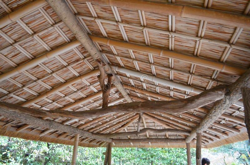 Bambusbinder und Dach stockbilder