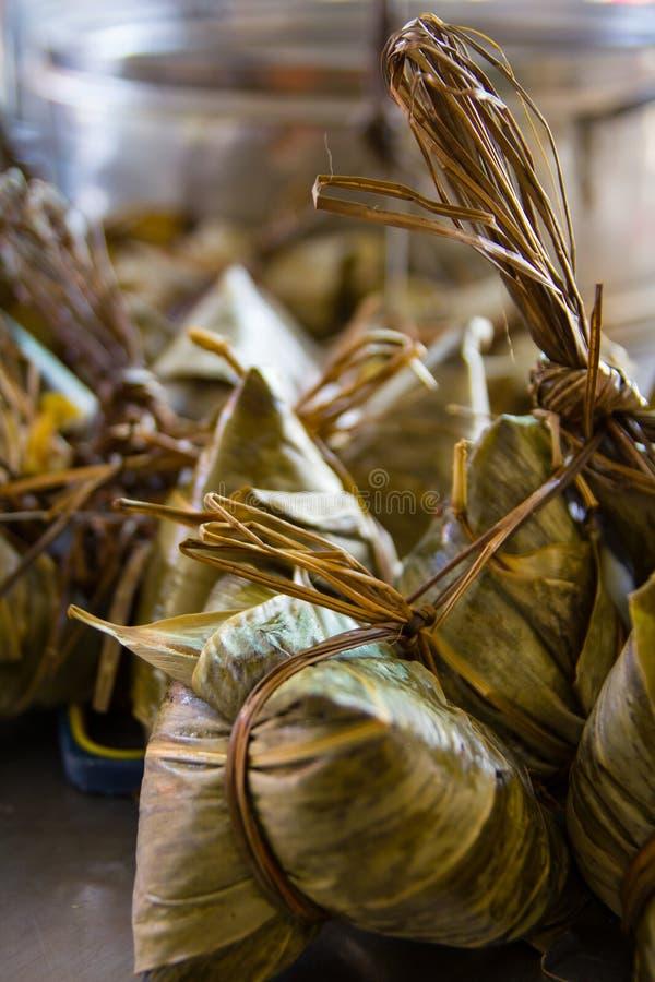 Bambusblatt-Mehlklöße stockfotografie