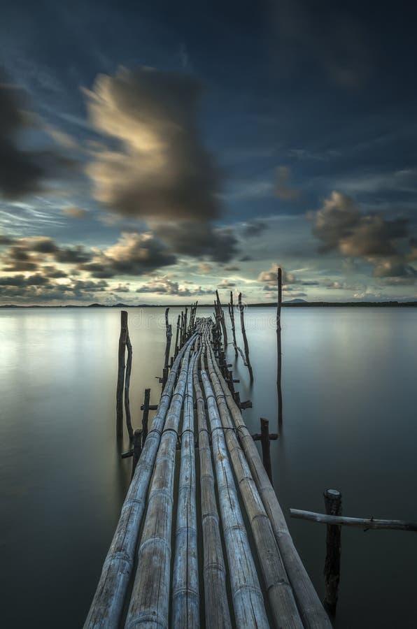 Bambusbrücke stockfotos