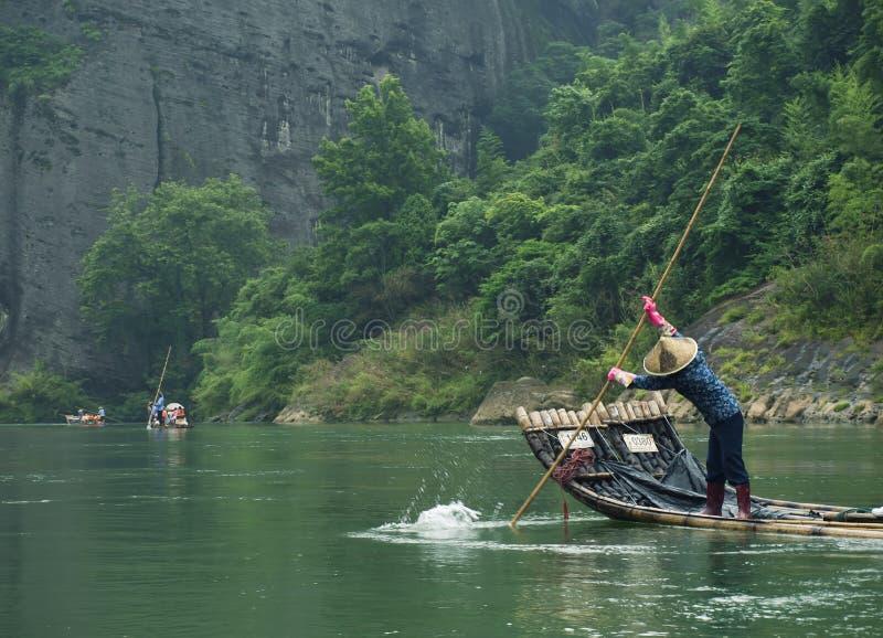 Bambusflossschwimmen stockfotos