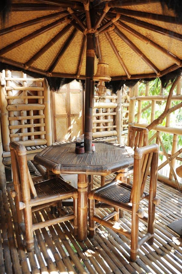 Bambusgaststätte lizenzfreie stockfotografie