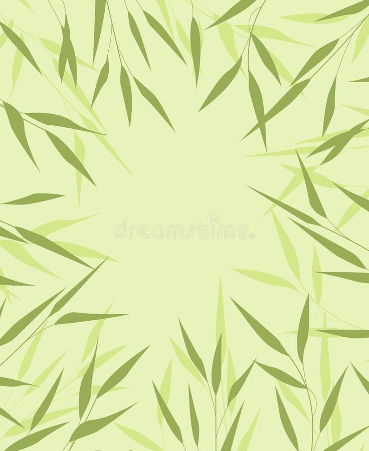 Bambusgrünblätter stock abbildung