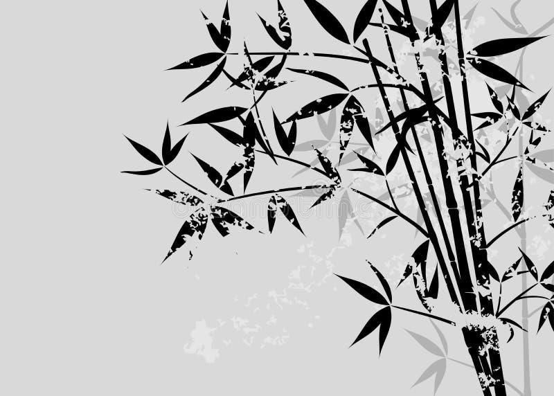Bambusgrunge Hintergrund lizenzfreie abbildung