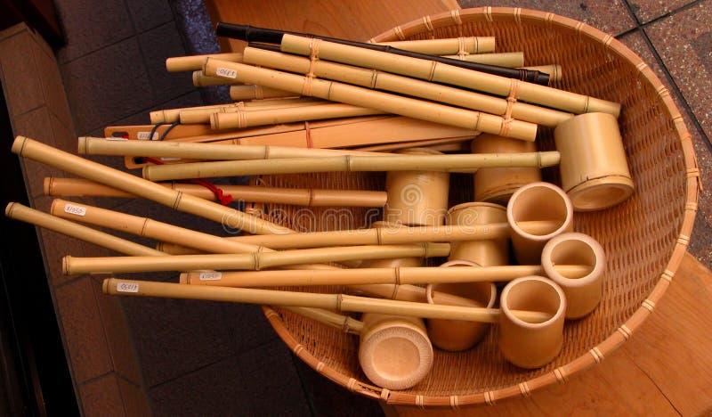 Bambushilfsmittel Stockfoto