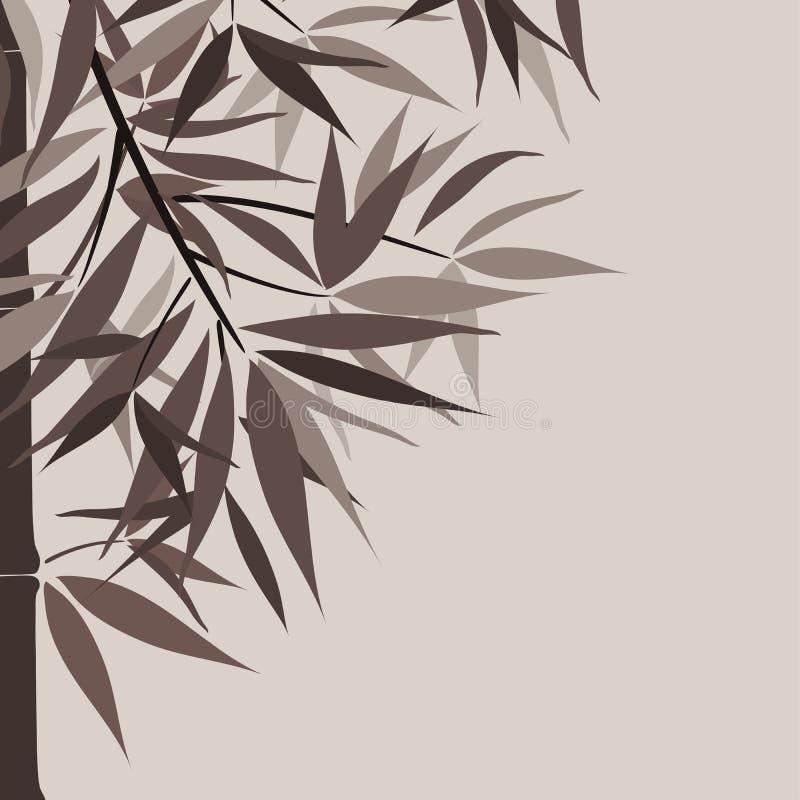 Bambushintergrund und Sonne, Vektor lizenzfreie abbildung