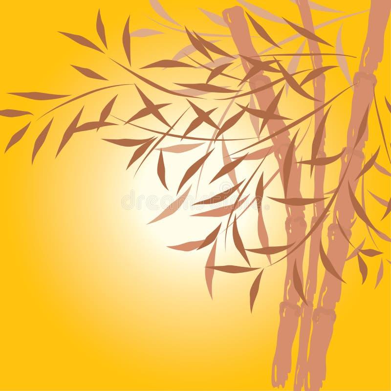 Bambushintergrund, Vektor stock abbildung