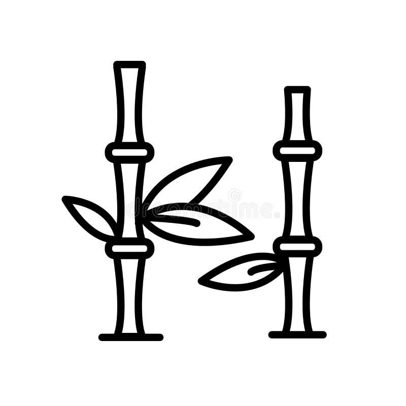 Bambusikonenvektor lokalisiert auf weißem Hintergrund, Bambuszeichen vektor abbildung