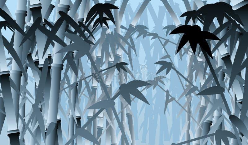 bambuskog royaltyfri illustrationer