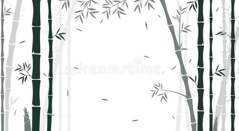 Bambuskogbakgrund för tapet vektor illustrationer