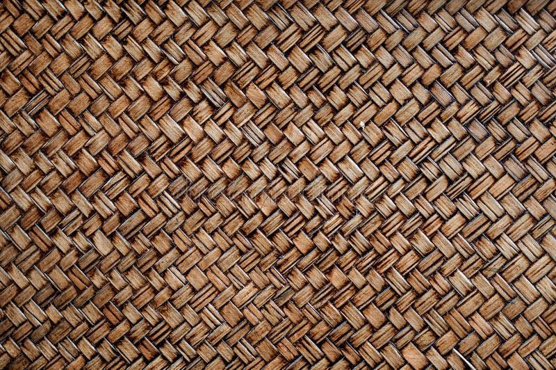 Bambuskorbbeschaffenheit des umsponnenen Reisigs lizenzfreie stockfotografie