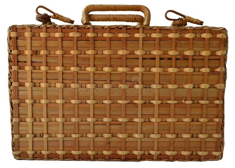 Bambuskorbwaren-Kasten lizenzfreies stockbild