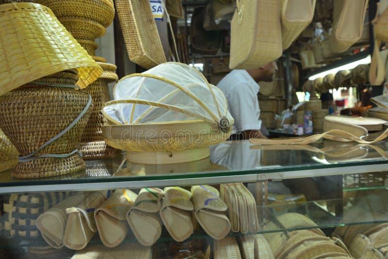 Bambusmarkt behälter Bogyoke Aung San lizenzfreie stockfotos