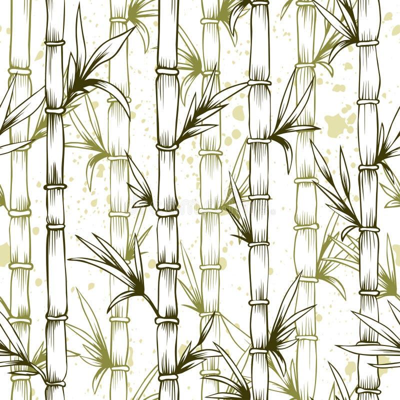 Bambusmuster des nahtlosen Vektors wald vektor abbildung