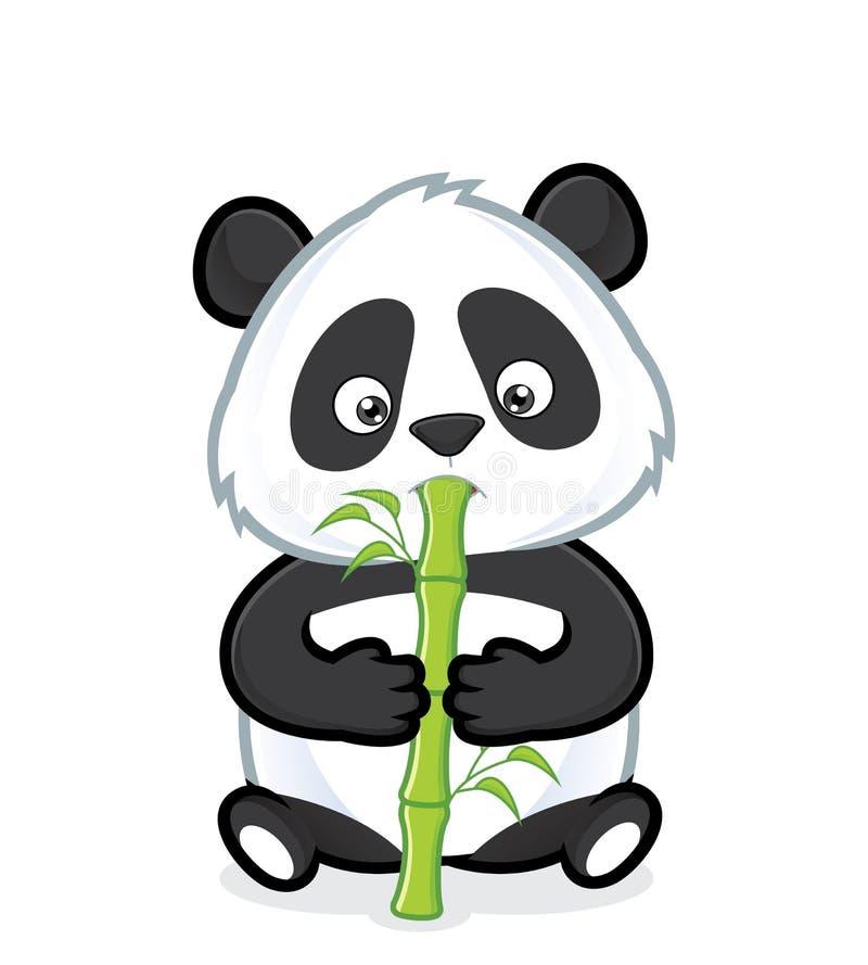bambusowa je panda royalty ilustracja
