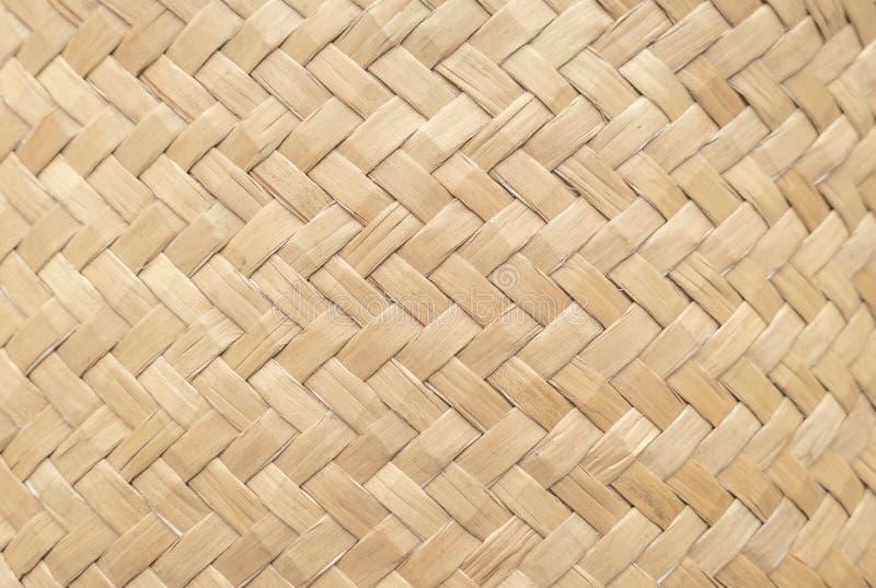 Bambusowa koszykowa tekstura dla używa jako tło Tkany kosza wzór, tekstura i fotografia stock