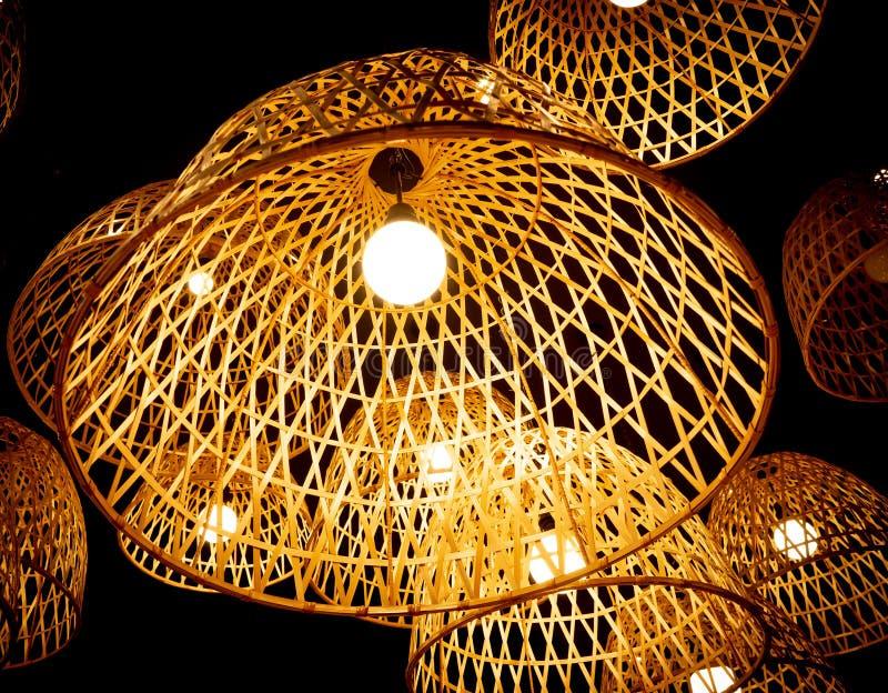 Bambusowa lampa obraz royalty free