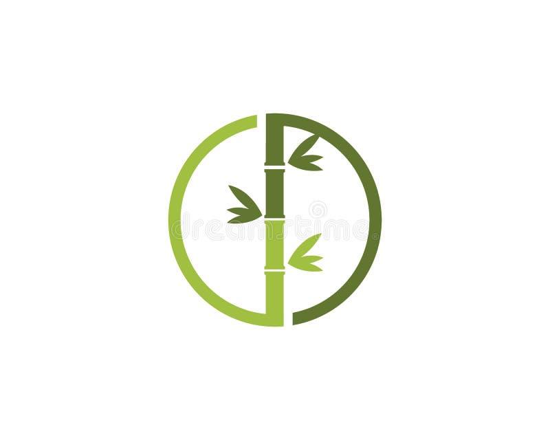 Bambusowa loga szablonu wektoru ikona ilustracja wektor