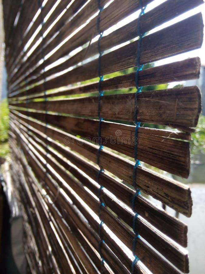Bambusowa zasłona w domu obraz royalty free
