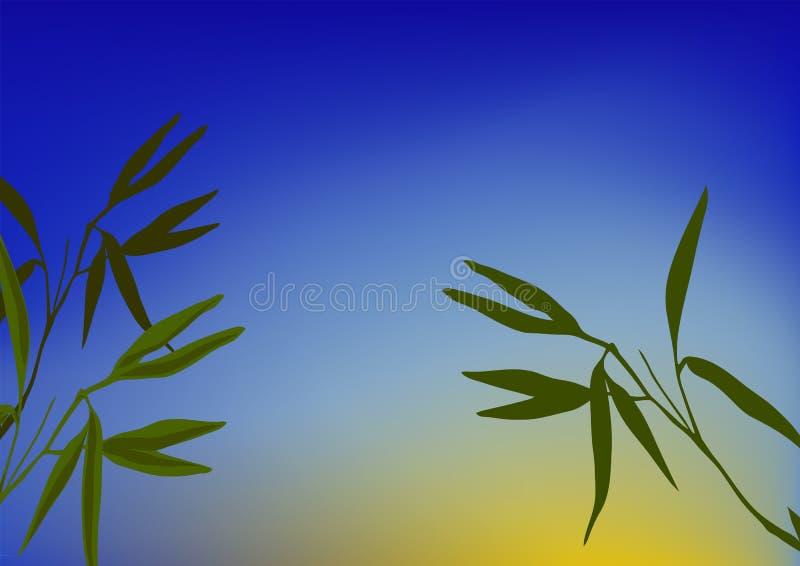 bambusowe flance royalty ilustracja