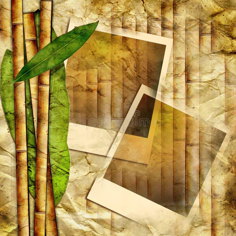Bambusowe ramy royalty ilustracja