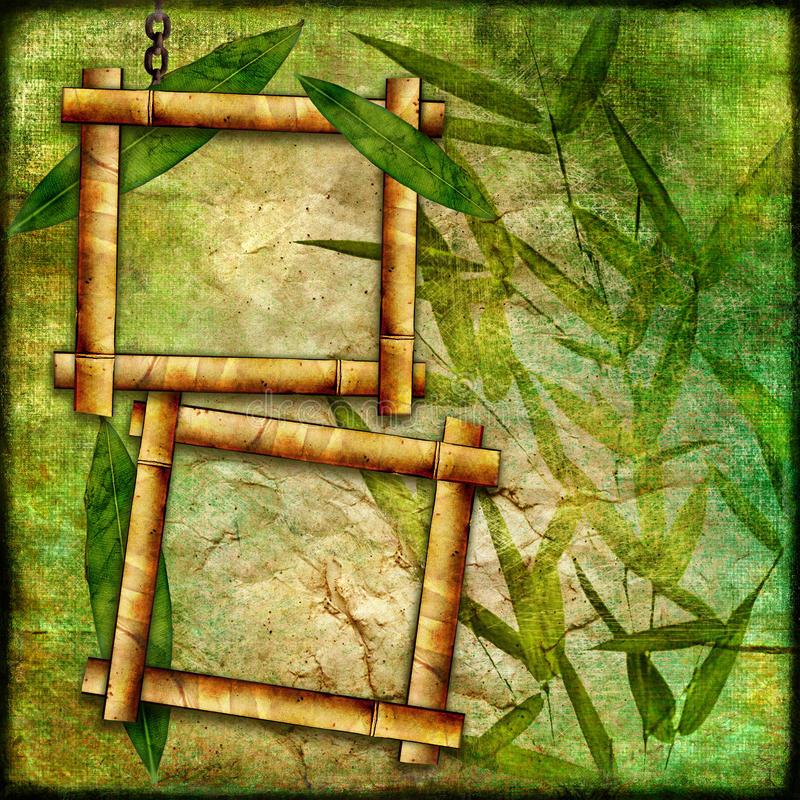Bambusowe ramy ilustracji