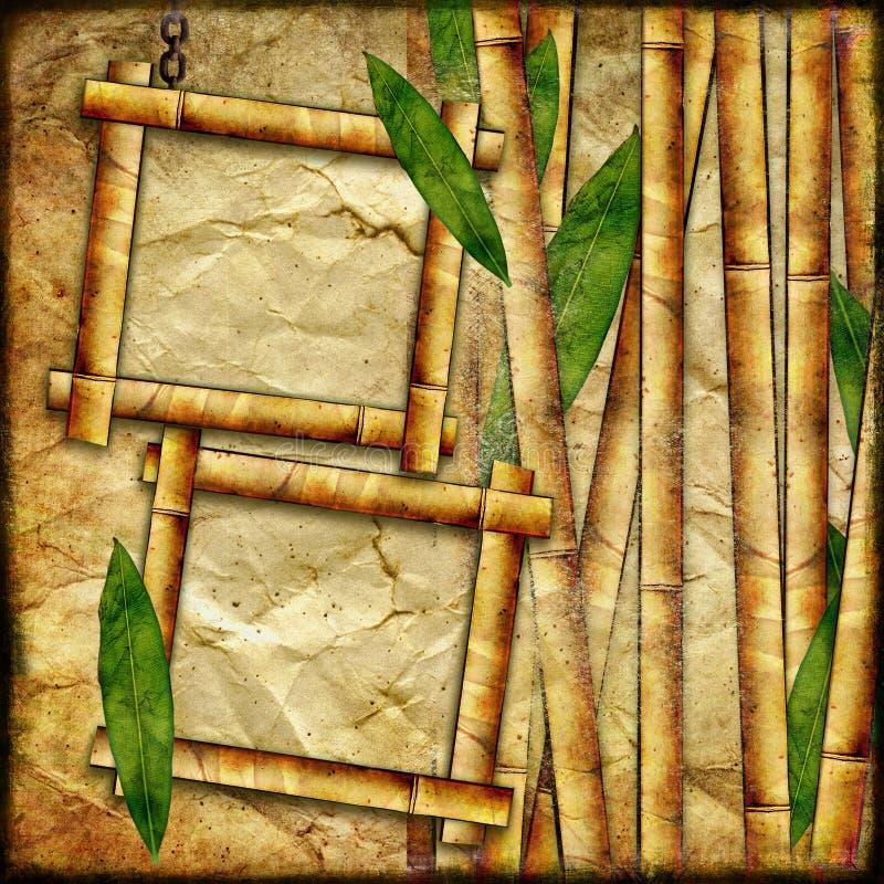 Bambusowe ramy ilustracja wektor
