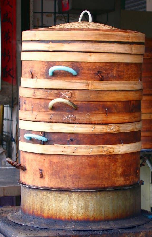 bambusowi największych steamers chińskich zdjęcie royalty free