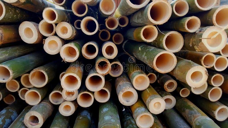 Bambusowi stosy podstawowi składniki różnorodni rękodzieła zdjęcie stock