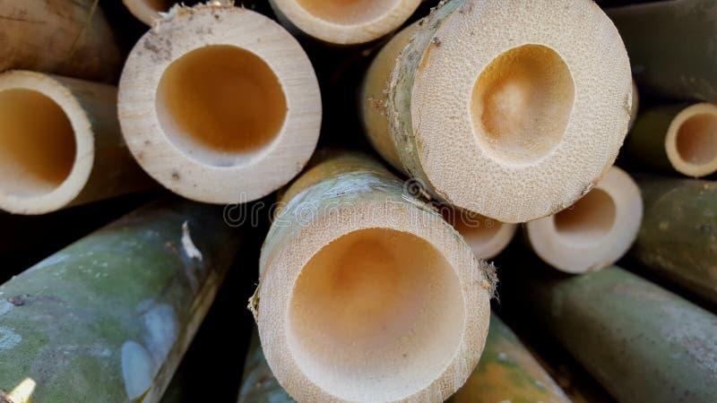 Bambusowi stosy podstawowi składniki różnorodni rękodzieła fotografia royalty free