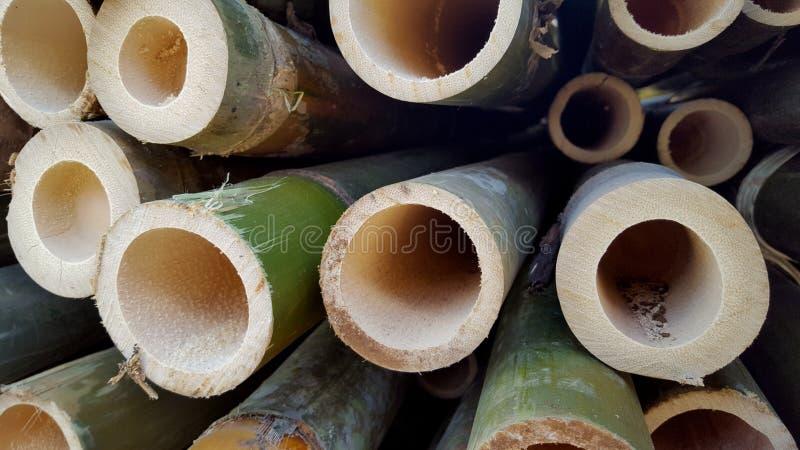 Bambusowi stosy podstawowi składniki różnorodni rękodzieła obrazy royalty free