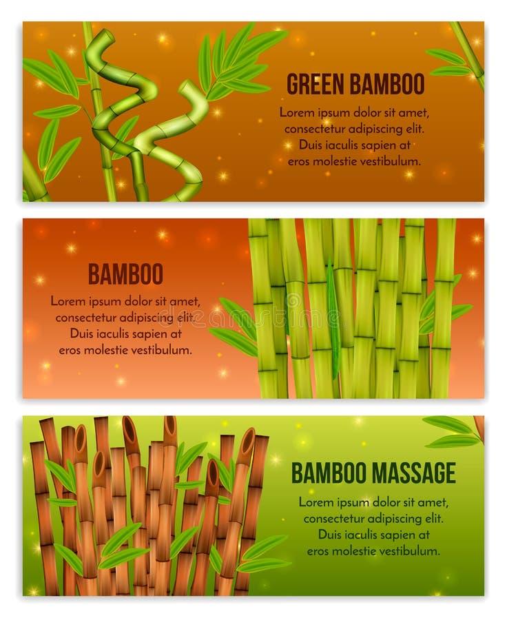Bambusowi sztandary Ustawiający ilustracji