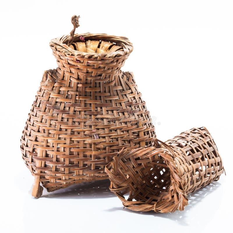 Bambusowy łapanie ryba narzędzie obraz royalty free