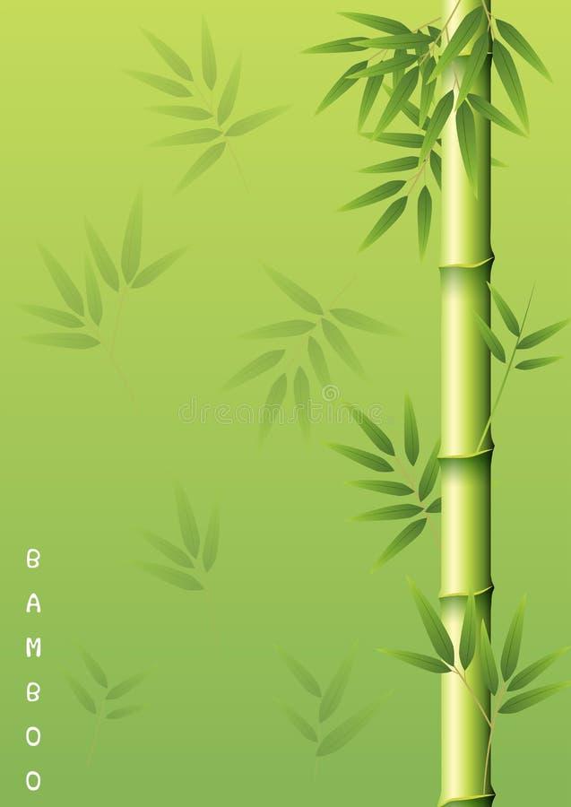 Bambusowy drzewo z zielonymi liśćmi ilustracji